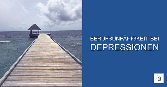 Berufsunfähigkeit bei Depression - Foto langer Weg