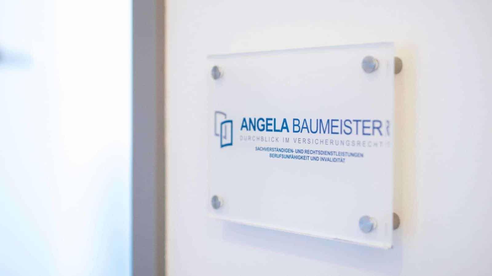 Angela Baumeister Kanzleischild