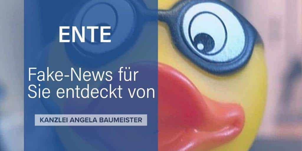 Fake News Versicherungsrecht